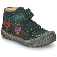 Schuhe Jungen Sneaker High Catimini ROMARIN Blau / Braun
