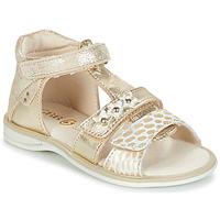 Schuhe Mädchen Sandalen / Sandaletten GBB SYLVIE Goldfarben