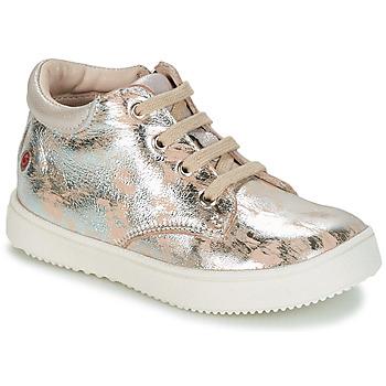 Schuhe Mädchen Sneaker Low GBB SACHA Beige / Silbern