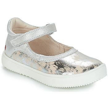 Schuhe Mädchen Ballerinas GBB SAKURA Silbern / Beige