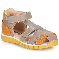 Schuhe Jungen Sandalen / Sandaletten GBB SPARTACO Grau / Orange