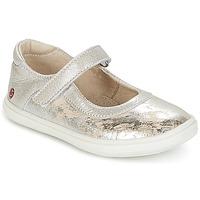 Schuhe Mädchen Ballerinas GBB PLACIDA Beige / Silbern