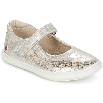 Schuhe Mädchen Ballerinas GBB PLACIDA Beige-silber / Dpf