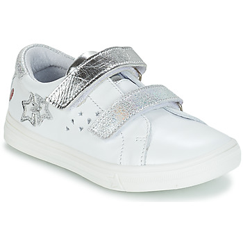 Schuhe Mädchen Klassische Stiefel GBB SANDRA Weiss / Silbern