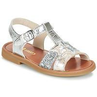 Schuhe Mädchen Sandalen / Sandaletten GBB SHANTI Silbern