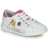 Schuhe Mädchen Sneaker Low Catimini SYLPHE Weiss / Rose
