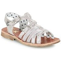 Schuhe Mädchen Sandalen / Sandaletten Catimini SAULE Silbern / Rose