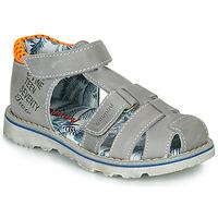 Schuhe Jungen Sandalen / Sandaletten Catimini SYCOMORE Grau / Orange