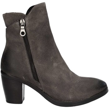 Schuhe Damen Low Boots Looking 702 Stiefeletten Frau Grey Grey