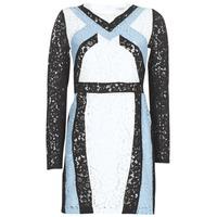 Kleidung Damen Kurze Kleider Morgan RLIXI Weiss / Schwarz / Blau