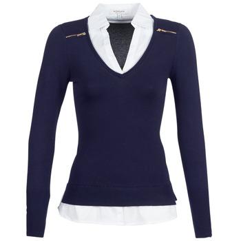 Kleidung Damen Pullover Morgan MYLORD Marine / Weiss