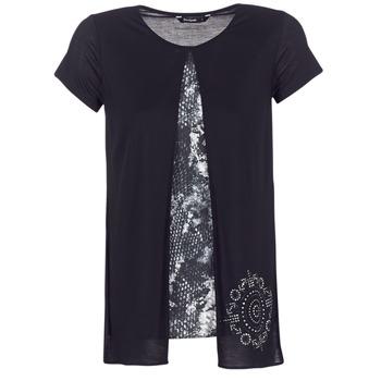 Kleidung Damen T-Shirts Desigual NUTILAD Schwarz