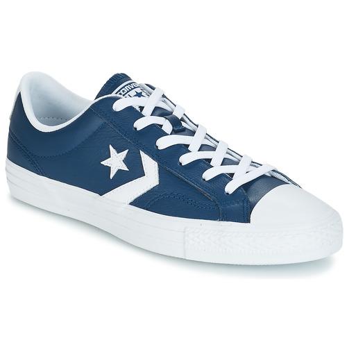 Converse Star Player Ox Leather Essentials Marine  Schuhe TurnschuheLow Herren 79,99