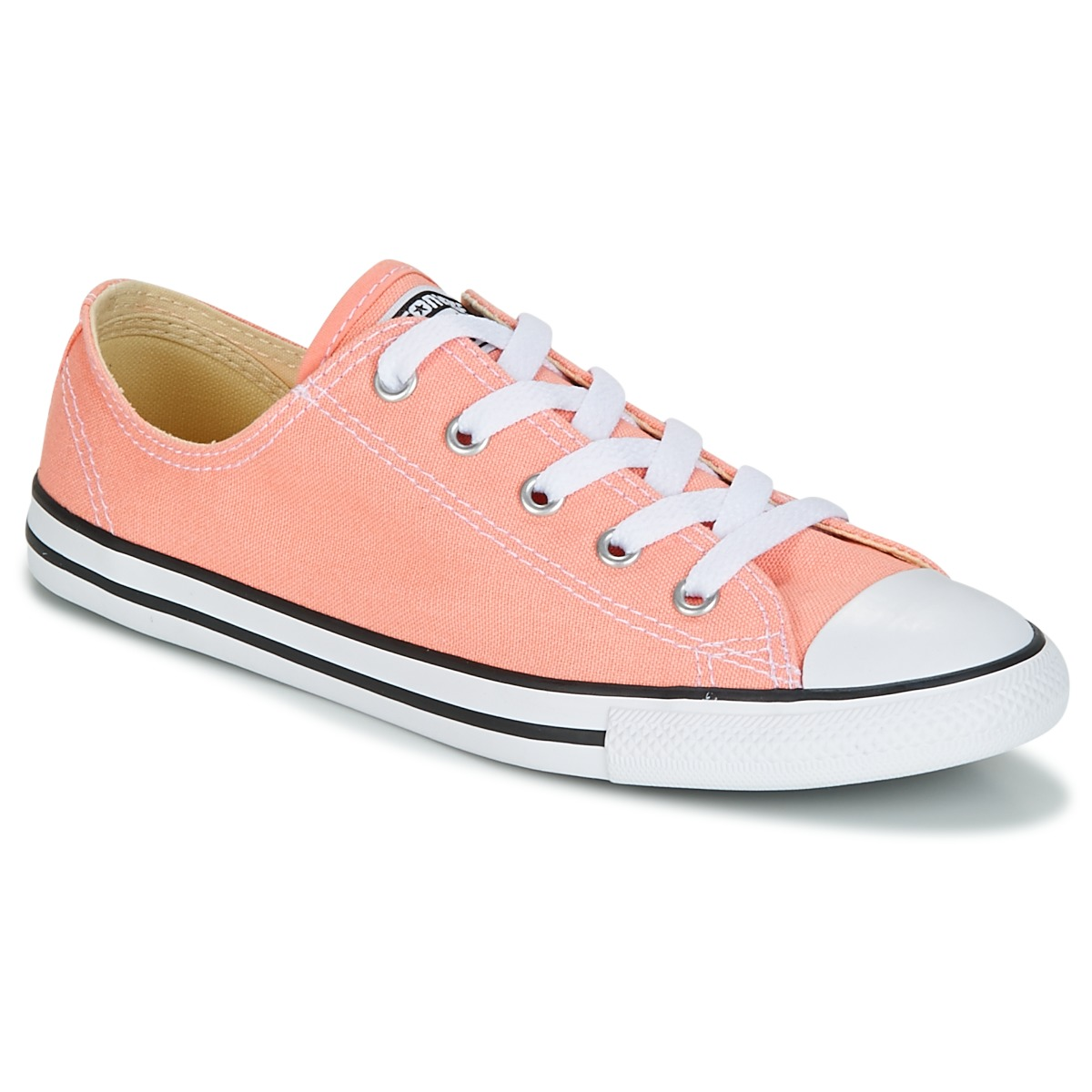 Converse Chuck Taylor All Star Dainty Ox Canvas Color Rose - Kostenloser Versand bei Spartoode ! - Schuhe Sneaker Low Damen 51,99 €