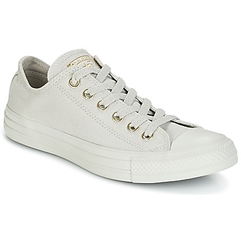 Schuhe Damen Sneaker Low Converse Chuck Taylor All Star Ox Mono Glam Canvas Color Grau