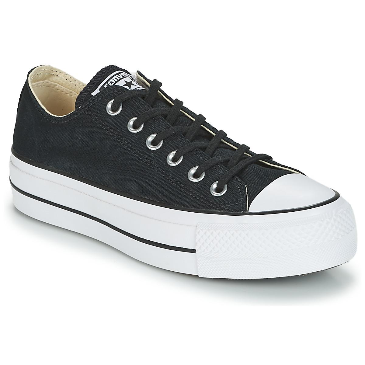 e0a71e634fb9ea Converse Chuck Taylor All Star Lift Clean Ox Core Canvas Schwarz -  Kostenloser Versand bei Spartoode ! - Schuhe Sneaker Low Damen 63