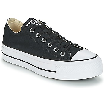 Schuhe Damen Sneaker Low Converse Chuck Taylor All Star Lift Clean Ox Core Canvas Schwarz