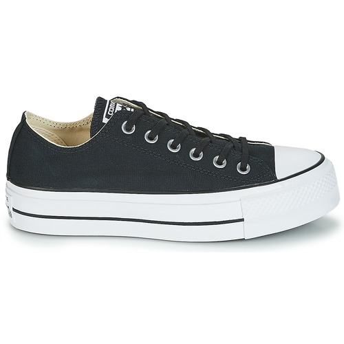 Converse Chuck Taylor All Star Lift Clean Ox Core Canvas Low Schwarz  Schuhe Sneaker Low Canvas Damen 71,99 0b5943