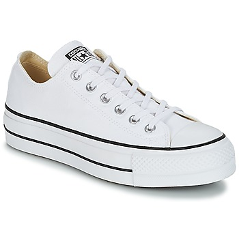 Schuhe Damen Sneaker Low Converse Chuck Taylor All Star Lift Clean Ox Core Canvas Weiss