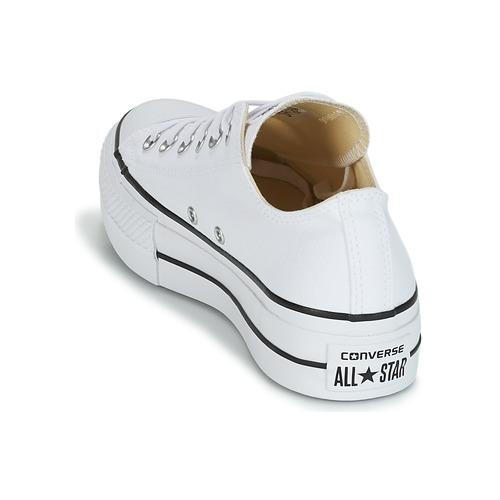 Converse Chuck Taylor All All All Star Lift Clean Ox Core Canvas Weiss  Schuhe Turnschuhe Low Damen cb698c