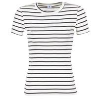 Kleidung Damen T-Shirts Petit Bateau  Weiss / Marine