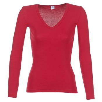 Kleidung Damen Langarmshirts Petit Bateau  Rot