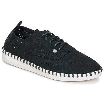 Schuhe Damen Leinen-Pantoletten mit gefloch Les Petites Bombes DIVA Schwarz