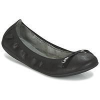 Schuhe Damen Ballerinas LPB Shoes ELLA VELOUR Schwarz
