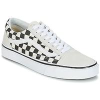 Schuhe Sneaker Low Vans OLD SKOOL Weiss / Schwarz