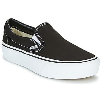 Schuhe Damen Slip on Vans SLIP-ON PLATFORM Schwarz
