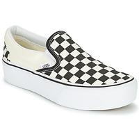 Schuhe Damen Slip on Vans SLIP-ON PLATFORM Schwarz / Weiss