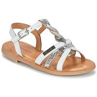 Schuhe Mädchen Sandalen / Sandaletten Les Tropéziennes par M Belarbi BADAMI Weiss / Silbern
