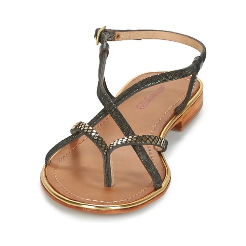 Les Tropéziennes par M Belarbi MONACO Schuhe Schwarz / Gold  Schuhe MONACO Sandalen / Sandaletten Damen 47,92 c2ada7