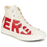 Schuhe Sneaker High Converse Chuck Taylor All Star Hi Converse Wordmark Weiss / Rot