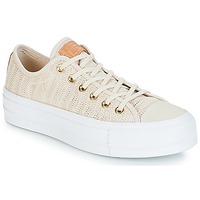 Schuhe Damen Sneaker Low Converse Chuck Taylor All Star Lift-Ox Beige / Weiss