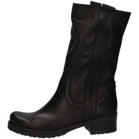 Schuhe Damen Klassische Stiefel Bage Made In Italy 140 NERO PELLE schwarz