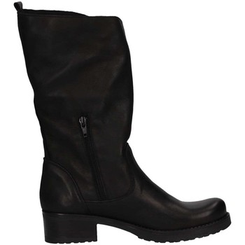 Schuhe Damen Klassische Stiefel Bage Made In Italy 142 NERO PELLE schwarz