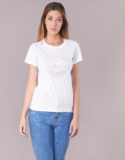 Kleidung Damen T-Shirts Converse CONVERSE CLEAR FOIL CHUCK PATCH CREW TEE Weiss