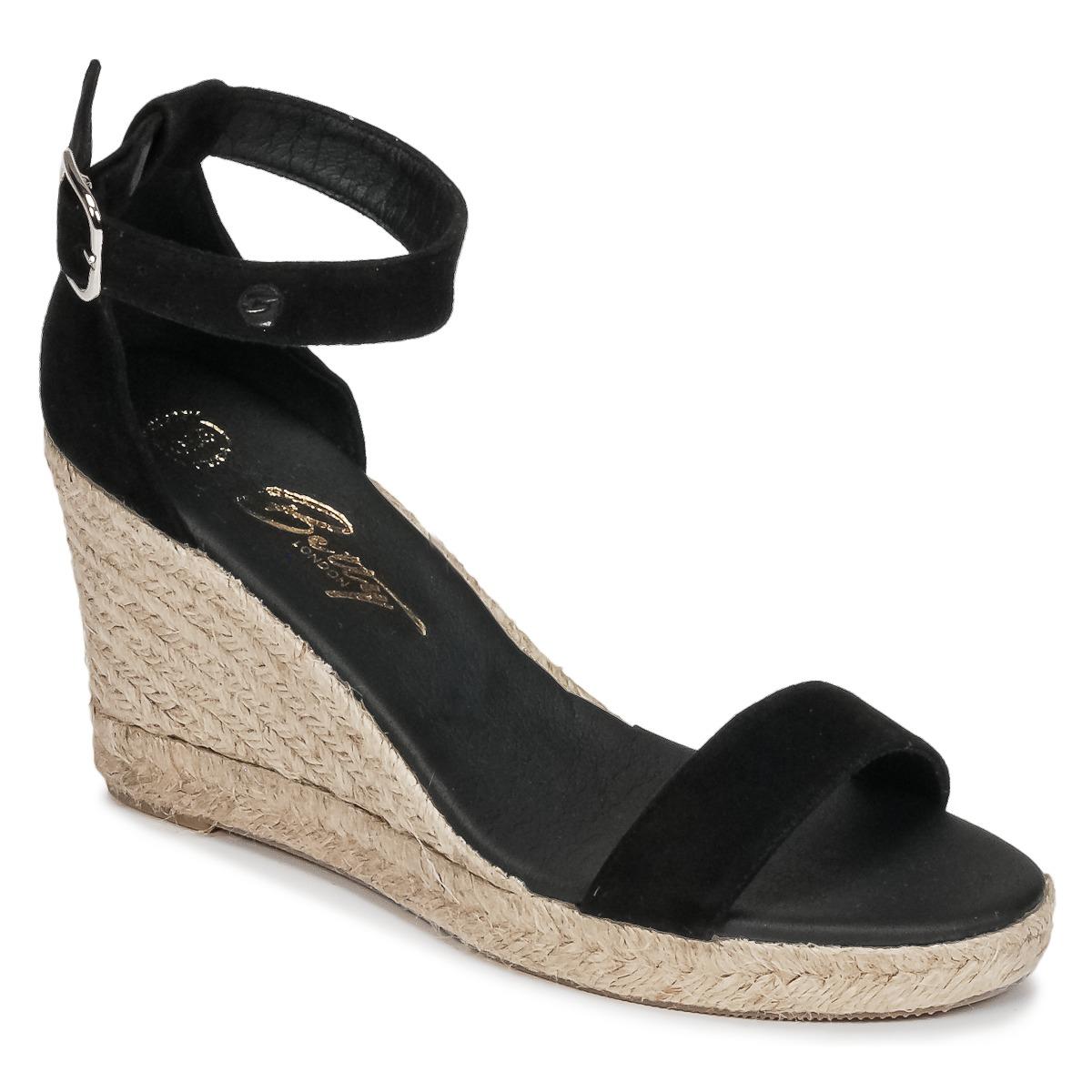 Betty London INDALI Schwarz - Kostenloser Versand bei Spartoode ! - Schuhe Sandalen / Sandaletten Damen 54,39 €