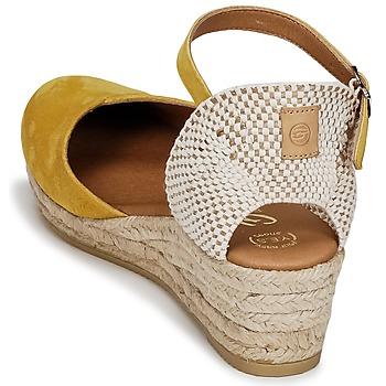 Betty London INONO Gelb - Kostenloser Versand |  - Schuhe Sandalen / Sandaletten Damen 4199