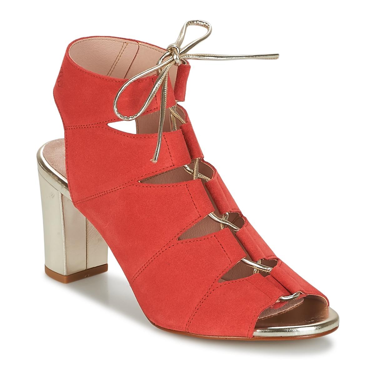 Betty London INALU Rot - Kostenloser Versand bei Spartoode ! - Schuhe Sandalen / Sandaletten Damen 47,99 €