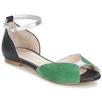 Schuhe Damen Sandalen / Sandaletten Betty London INALI Schwarz / Silbern / Grün