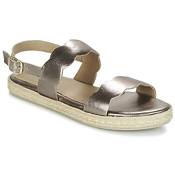 52ac68740c00f3 Schuhe Damen Sandalen   Sandaletten Betty London IKARO Silbern