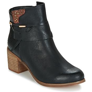 Schuhe Damen Low Boots Elue par nous BEGINE Schwarz