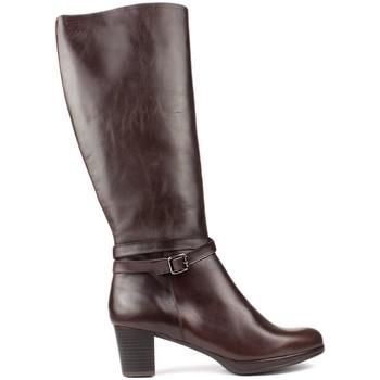 Schuhe Damen Stiefel Kroc HOHE LEDERSTIEFEL BROWN