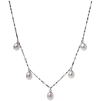 Uhren & Schmuck Damen Collier Blue Pearls BPS 1200 O Weiss