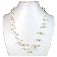 Uhren & Schmuck Damen Collier Blue Pearls BPS 0200 Y Weiss
