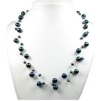 Uhren & Schmuck Damen Collier Blue Pearls BPS 0200 Y Schwarz