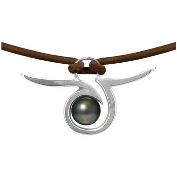 Uhren & Schmuck Damen Collier Blue Pearls BPS K266 W Grün