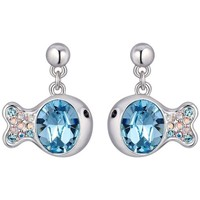 Uhren Damen Ohrringe Blue Pearls CRY E301 J Multicolor